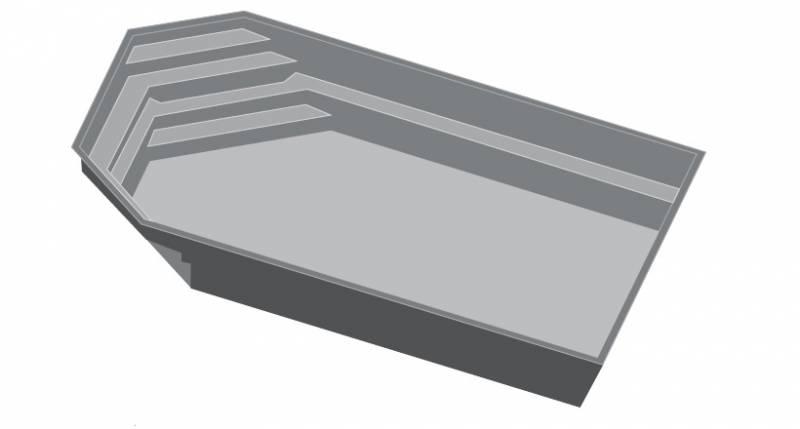 piscine en coque polyester modele tanzanite de 8 10m. Black Bedroom Furniture Sets. Home Design Ideas